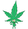 marijuana cartoon isolated on white background vector image vector image