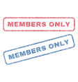 members only textile stamps vector image vector image