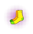 Men socks icon comics style vector image vector image