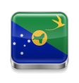 Metal icon of Christmas Island vector image vector image