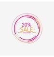 Minimal line design shopping stamps sale vector image vector image