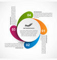 modern infographic template infographics for vector image