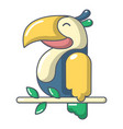 parrot icon cartoon style vector image vector image