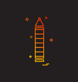 penci school stationery icon design vector image