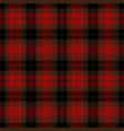 red and black tartan plaid scottish pattern vector image vector image