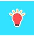 red bulb icon sticker isolated on blue background vector image vector image