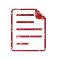 Red grunge page logo vector image vector image