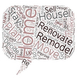 Relocate or Renovate text background wordcloud vector image vector image