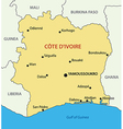 Republic - Ivory Coast - map vector image vector image