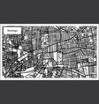 santiago chile city map in black and white color vector image vector image