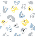 seamless pattern with dogs vector image vector image
