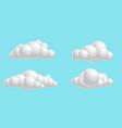 set clouds fluffy 3d mesh cartoon soft render