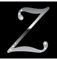 silver metallic letter Z vector image