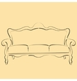 Sketched sofa couch vector image vector image