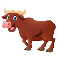 Smiling bull mascot vector image