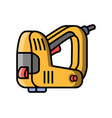stapler construction electric tool flat style vector image