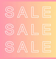 trendy sale vector image vector image