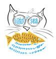 vacation at sea with fishing vector image
