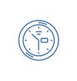 wall clock line icon concept wall clock flat vector image vector image