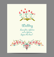 Wedding invitation cards with floral elements vector image vector image