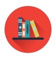 Bookshelf icon vector image