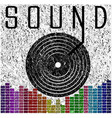 sound music graphic poster t shirt graphic design vector image