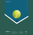 tennis championship poster vector image