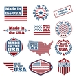 Made in USA labels vector image