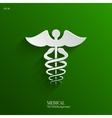 Caduceus Medical Symbol- Backgrond vector image