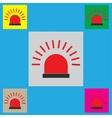 Police single flat icon vector image