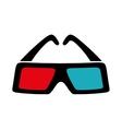 3d glasses icon Movie design graphic vector image vector image