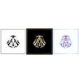 aa monogram aa initial wedding aa logo company vector image vector image
