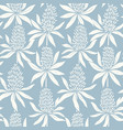 Abstract flowers hand drawn seamless blue pattern