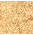 Abstract seamless hand-drawn hair pattern vector image vector image
