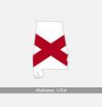 alabama usa map flag vector image vector image
