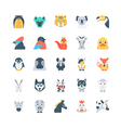 Animals and Birds Colored Icons 4 vector image