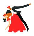 ballroom dance dancers couple dancing tango vector image vector image