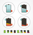 Battery Life Icons Set Isolated on White vector image