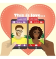 Beautiful young man and woman in love on the vector image vector image