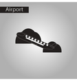 black and white style icon airplane takeoff vector image vector image