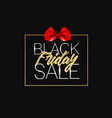 black friday sale gold banner luxury black vector image vector image