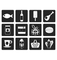 Black Shop food and drink icons 1 vector image vector image