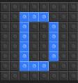 blocks in english capital letter d alphabet set vector image