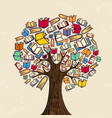 book tree for education concept vector image vector image