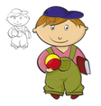 Boy with Ball vector image vector image