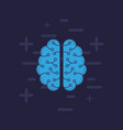 brain icon image vector image