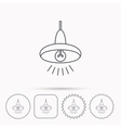 Ceiling lamp icon Light illumination sign vector image