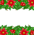 Christmas decoration with holly berry and vector image vector image