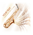 Classical saxophone on musical notes backgroud vector | Price: 1 Credit (USD $1)