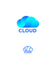 cloud computing logo info emblems vector image vector image
